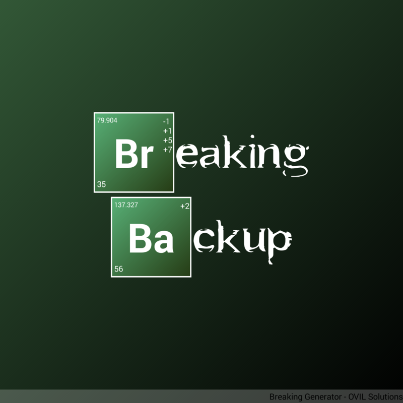 Breaking Backup